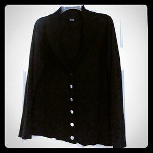 Rafaella Black button sweater
